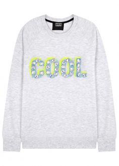 Belinda Cool embellished sweatshirt Lace Silk bd2fe7b0bd4e