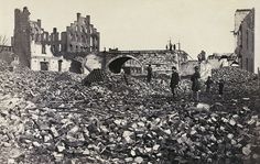 Richmond 1865 after general Grant took it. During this time, one quarter of the city's buildings were destroyed.