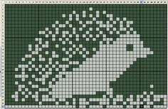 """Вязание-ручная работа: Схема для вязания """"Ежик"""""""