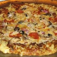 Lo Carb Pizza. It is as good as it looks. My fanily loved this one.