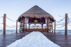 Exchange vows in a private gazebo overlooking the ocean. #UnlimitedRomance #SecretsSilversands | Honeymoons.com