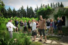 Learning about herbs, then picking them alongside our friend, Chef Nito at cooking class in Provence. http://www.traveloffthebeatenpath.com