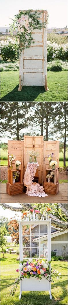 Wedding decoration ideas with old doors