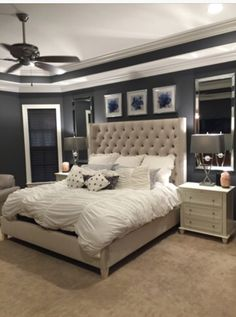 Paint Color Sw 7674 Peppercorn From Sherwin Williams Serene Bedroom Bedding Master