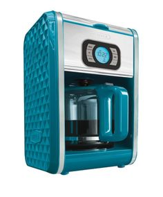 BELLA 13911 Dots Collection 12 Cup Programmable Coffee Maker Teal By DH Distributing