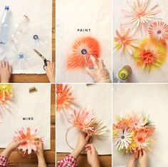Anthropology did this for window displays and Oh, Happy Day has done a great step by step instruction on how to recreate the look.  These could be amazing for decorations at your next party.  So crafty.