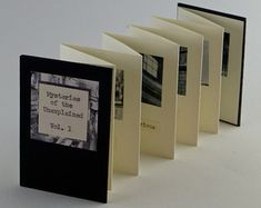 Artiste livre, Artists' Books, Miniature Artists' livre, livre Miniature, livre à la main, noir et blanc, reliure architectural, accordéon