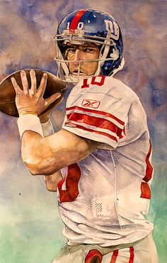 Giants QB by Eli Manning by Michael Pattison