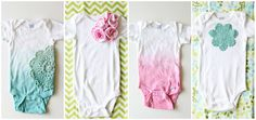 Super cute!! V and Co.: V and Co: how to: baby girl onesies: dyeing with rit dye