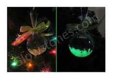 Another very pretty glow Christmas ornament.  Using the Medium glass Chips, I believe.