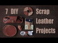 7 Scrap Leather Projects: 10 Steps (with Pictures) Arts And Crafts Projects, Arts And Crafts Supplies, Fun Projects, Diy Leather Projects, Leather Crafting, Leather Scraps, Chalkboard Drawings, Arts And Crafts Movement, Craft Organization