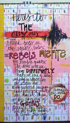 This is an AMAZINGLY TALENTED art journal artist: Teresa McFayden  She inspires me!
