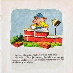 Cuentos infantiles: Los tres cerditos. Cuento ilustrado.