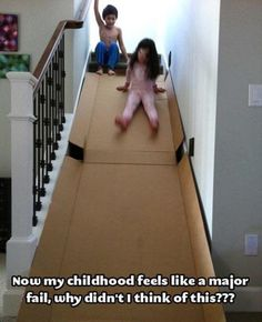 I tried something like this, but it had more obstacles  because the stairs weren't straight
