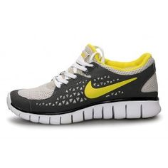Brand Nike Free Run + Womens Running Shoes - Black/White/Yellow $66.90 go to http://www.nikefreerunsmall.com