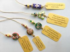 New beaded bookmarks