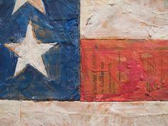 Jasper Johns / detail encaustic