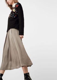 Струящаяся юбка   MANGO МАНГО