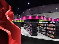Prologue bookstore by Ministry of Design, Singapore store design Interior Design Dubai, Interior Design Companies, Interior Design Inspiration, Retail Store Design, Retail Shop, Visual Merchandising, Bookstore Design, Store Interiors, Shop House Plans
