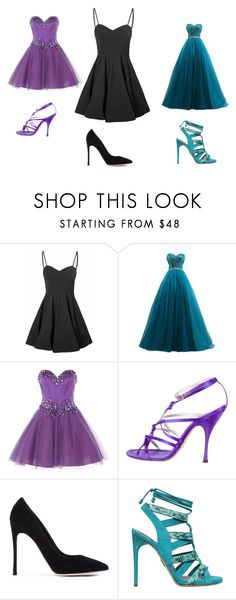 """""""dresses"""" by thatbandgeek337 on Polyvore featuring Glamorous, Anoushka G, Dolce&Gabbana, Gianvito Rossi and Paul Andrew"""