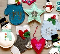 Hello! Today's post comes with a strong warning: The die cut felt ornaments I show in this video are extremely addictive. :)