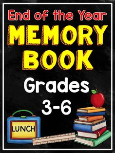 End of the Year Memory Book: designed for grades 3-6. This book is an end of the year print-and-go keepsake for students. They will enjoy completing each page and will love reading it in years to come. This memory book is also perfect for filling odd minutes and can be used as an early finisher during the last several weeks of school.
