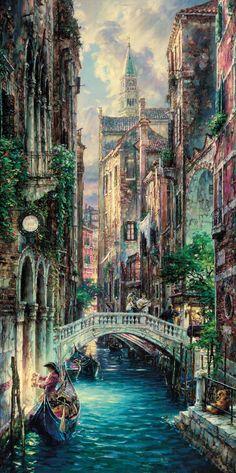 Deja Vu Venice by Cao Yong ~ Venice series - Very talented artistry - Michael Aubon