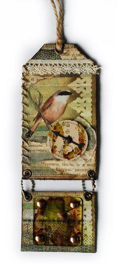 Summer bird swinging tag