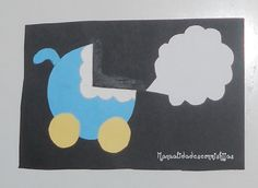 Manualidades con mis hijas: Tarjeta de nacimiento. kids craft. birth card