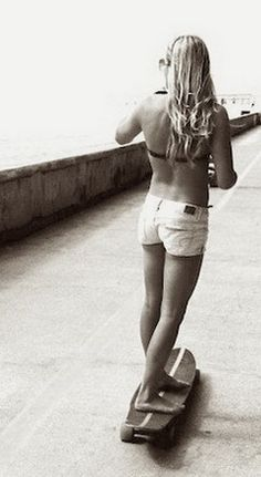 going to the beach in style. #girlzactive #skatergirl