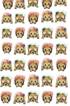 Imagen de monkey, emoji, and wallpaper
