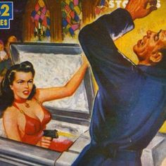 An extreme case of 'last minute' revenge! ~ vintage pulp cover.
