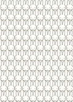 Tiled image of Miffy. Unknown origins of image. Kids Patterns, Pretty Patterns, Textures Patterns, Wallpaper Pictures, Wallpaper Backgrounds, Iphone Wallpaper, Cute Pattern, Pattern Design, Miffy