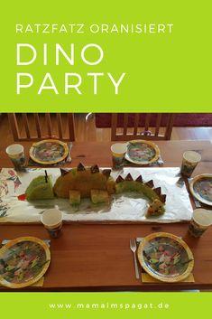 Dinoparty: Spiele, Deko, Dinokuchen und kleine Geschenke ratzfatz organisiert Bei dieser Dinosaurierparty hielten wir die kleinen Gäste mit Spielen, wie Dino-Makse,Dino-Domino,Dino-Eierlauf und Dino-Topfschlagen bei der Geburtstagsfeier im Zaun.
