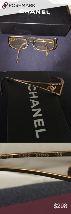 Chanel glasses Chanel glasses code 51O16.  Tortoise around lenses gold sides.  Preloved ❤️.  Used fair condition. CHANEL Accessories Glasses