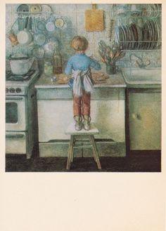 O. Otroschenko Little Mistress Print by RussianSoulVintage on Etsy