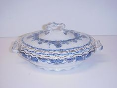 George Jones Flora Covered Tureen C. 1891 #GeorgeJonesSons