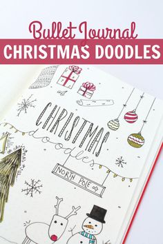 Bullet Journal CHRISTMAS DOODLES: Christmas Tree, Presents, Stocking, & More!