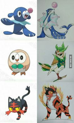 "theawesomeworld8: "" I drew this as a prediction. All based on Circus performers (Ball seal, Ring Master, Ring Tiger) Pokemon Sun and Moon http://ift.tt/1rFxSnY """