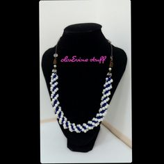 Blue-white pearl Necklace 1st ed.