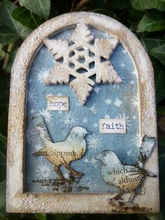 Calico Craft Parts: Snowflake ATC - by Alison