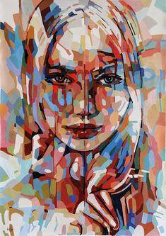 paintings art artist אומנות צייר noemi nomi נעמי ספיר oil colors portrait abstract urban expressionism contemporaryart noemisafir nomisafir נעמיספיר