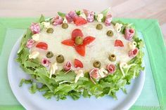 Sandwich Cake, Sandwiches, Birthday For Him, Italian Cooking, Strudel, Summer Time, Food To Make, Nom Nom, Buffet
