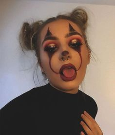 halloweenmakeup halloween ecemella october spooky makeup ideas clown sexy this but try for 64 to 64 Sexy But Spooky Halloween Makeup Ideas To Try This October Ecemella Clown Makeup For HalloweenClown Makeup For Halloween Maquillage Halloween Clown, Halloween Makeup Clown, Halloween Looks, Halloween Ideas, Halloween 2019, Cute Clown Makeup, Cute Clown Costume, Clown Costume Women, Hot Halloween Costumes