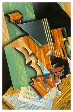 'Still Life with Pears and Grapes on a Table' by Juan Gris (1887-1927)