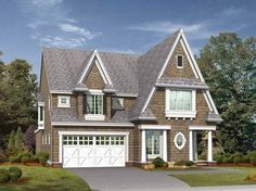 Eplans Craftsman House Plan - Unique Cottage Perfect for Narrow Lots - 3550 Square Feet and 4 Bedrooms(s) from Eplans - House Plan Code HWEPL14173
