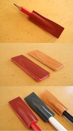 「気兼ねなく使える革キャップ」 ASUMEDERU 鉛筆キャップ
