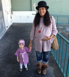 Cree Summer and daughter, Brave, with Summer's second one inside!