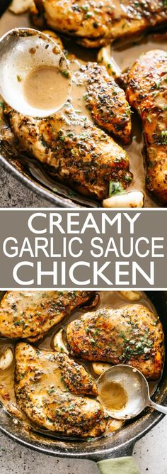 Tender chicken breasts smothered in creamy garlic sauce! A quick and easy chick… Tender chicken breasts smothered in creamy garlic sauce! A quick and easy chicken breasts dinner idea that's great for busy weeknights. Garlic Sauce For Chicken, Chicken Sauce Recipes, Creamy Garlic Sauce, Easy Chicken Tender Recipes, Recipes With Chicken Tenders, Healthy Sauce For Chicken, Creamy Sauce For Chicken, Frozen Chicken Recipes, Garlic Recipes