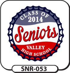 We can customize any of our templates for a senior t-shirt design that is totally unique! Try this bottle cap design on for size! Cheers! spiritwear.com